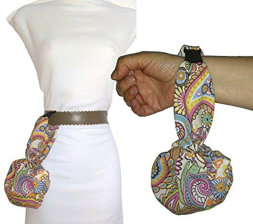 Le sac à main CACHEMIR peut être accroché à la ceinture. Idéal pour se promener, danser, etc. Très confortable, facile à ouvrir et à fermer. Breveté. Lavable