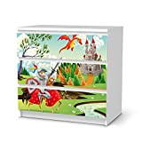 creatisto Möbeltattoo für Ikea Malm 3 Schubladen | Dekorsticker Klebefolie Möbel-Folie Sticker | Einrichtung Gestalten Gestaltungsideen | Design Motiv Fairytale