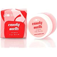 Plum Candy Melts Vegan Lip Balm | Melon Bubble-yum | With Natural UV Protection, Ultra Moisturization & Added Shine for…