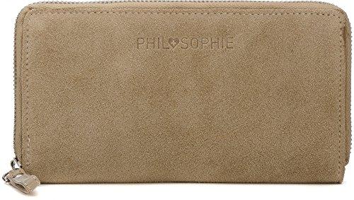 PHIL+SOPHIE Portemonnaie Damen Leder Geldbörse groß mit Reißverschluss Lederbörse Damenbörse Geldbeutel für Frauen mit vielen Kartenfächern