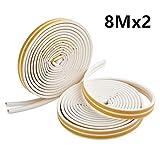 MUXItrade Guarnizione Per Finestra Adesiva In Gomma Per Sigillare D-Type Bianco