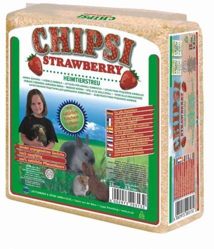 Chipsi Strawberry Litière pour Rongeur 60 L