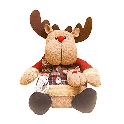 MingXiao Dekorations-Verzierungs-Bunte Flanell-Party-Geschenke Weihnachtsbaum-Weihnachtsmanns-Puppen-Stoff-Kunst-Schneemann-Elch-hängende Verzierung