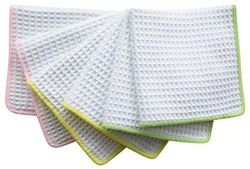 sinland-waffle-weave-microfibra-panni-per-pulizia-del-viso-strofinacci-da-cucina-33cmx33cm-bianco-co