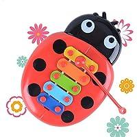 Juguetes de instrumentos de percusión para bebé, puzle, insectos de piano, música temprana, xilófono