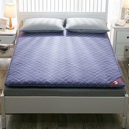 HYXL Anti-Rutsch Gepolsterte Boden Tatami matratze,Bodenkissen Kissen Pad Tatami Wohnzimmer teppiche für Schlafzimmer wohnheim-B 100x200cm(39x79inch)