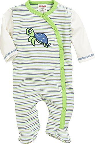 Schnizler Unisex Baby Schlafstrampler Schlafoverall Schildkröte, Oeko-Tex Standard 100, Grün (Grün 29), 56