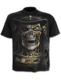 Spiral Steam Punk Reaper T-Shirt black