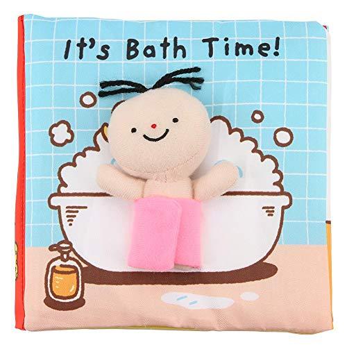 Zerodis Baby Stoff Bücher weich und ungiftig Stoff Bücher Kleinkind Kleinkind frühe kognitive Entwicklung pädagogisches Buch für Baby Dusche Spielzeug Geschenk(Badetuch Buch) (Baby-dusche Baby-bücher Für)