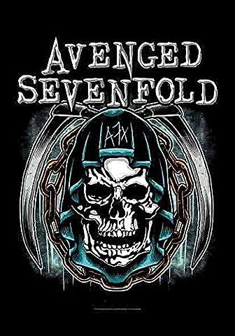 Avenged Sevenfold Blue Skull Textile poster 110x75cm