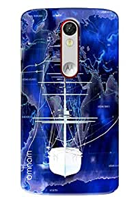 Omnam White Ship On Sea Painted Printed Designer Back Cover Case For Motorola Moto X Force
