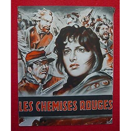 Dossier de presse de Les Chemises rouges (1952) - 86x30 cm – Film de Alessandrini et Rosi avec A Magnani, S Reggiani, Alain, Cuny, Raf Vallone– Photos N&B - résumé du scénario