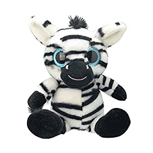 Wild Planet- Orbys-Juguete de Peluche Zebra 15cm Hecho a Mano, (K7873)