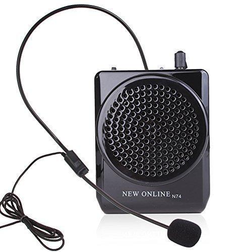 n74-black-waistband-voice-amplifier-microphone-speaker-voice-amplifier-15watts-portable-for-teachers