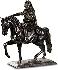 A+ Figura Decorativa Luis XIV a Caballo por Francisco Girardon
