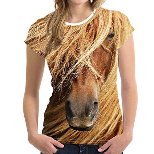 Sommer Kurzarm Unisex Lustige 3D-Druck Tier T-Shirts Top Bluse