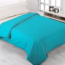 Fundas Nórdicas Lisas de todos los Colores - ENVÍO GRATUITO - Todas las Medidas - Fundas de edredónes de cama y colchas. (Cama de 90cm, Turquesa)
