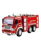 JOJOmay Babys exquisites Komfortspielzeug Rotes Wasser-Jet-Feuerwehrauto-Modell leuchtendes Geschichtenerzählenauto-Spielzeug-Kind-Musik-Spielzeug-Modell