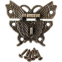 A0127 hebilla de candado anillo verrouiller placa de cierre cerradura decorativa mariposa Retro anillo de pata