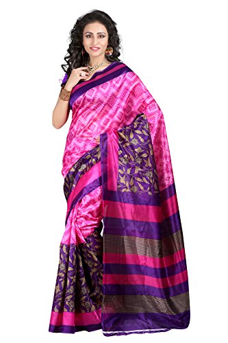 Saree (Earth Creation Women\'s ART SILK Saree with blouse piece)