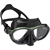 Cressi Eyes Evolution - Gafas de buceo, color negro/verde