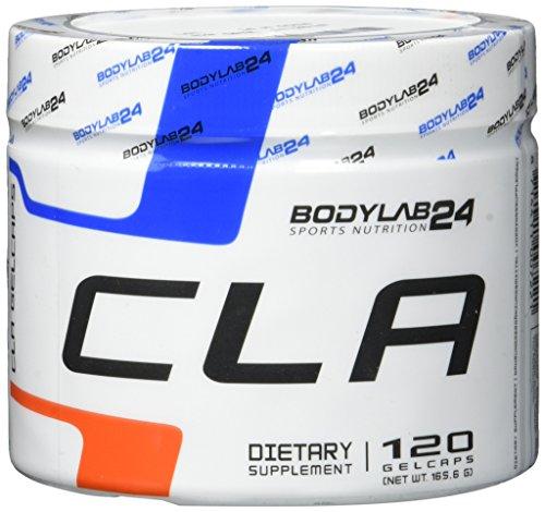 Bodylab24 CLA Kapseln, beliebt bei einer kohlenhydratreduzierten Ernährung, mit 1000mg CLA je Kapsel, 120 Kapseln