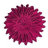 JWH 3D Sonnenblume Wolle Kissen Hochzeit Dekorativ Heim Stuhl Überwurf Kissen Kaffee Auto Sofa Accent Kissen., magenta, 14 Inch / 35 cm
