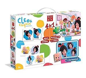 Clementoni- Edukit Cleo & Cuquin, Multicolor (552313)