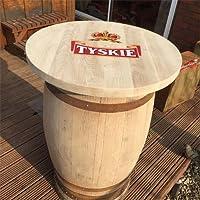 In solido legno di quercia con Whisky riciclata TYSKIE Copertura per tavolo da veranda