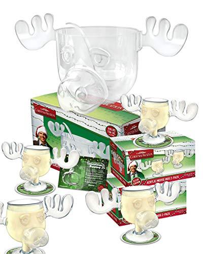 Griswold Family Set Kunststoff PVC Moose Mugs und Elch Schale Christmas Vacation