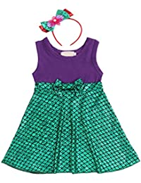 FYMNSI Bambini Ragazza Carnevale Costume Vestito Bambino Mickey Belle  Sirena Biancaneve Principessa Cosplay Tutu Senza Maniche c0f1705ab83