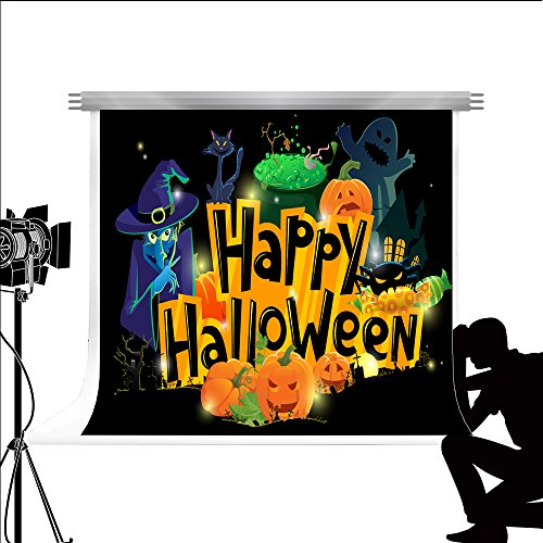 Kate Photo Backdrop Happy Halloween Hintergrund Cartoon Wallpaper für Fond Studio Fotografie 7x5ft