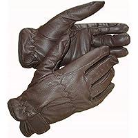 guantes de equitación, piel, color marrón, tamaño mediano