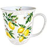 Ambiente Becher - Mug - Tasse - Tee / Kaffee Becher ca. 0,4L Citrus - Ideal Als Geschenk