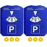 2 Discos de Estacionamiento Aparcamiento con 3 Chip para Carros de Compra - Disco Horario Coche