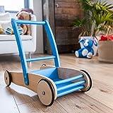 Vinz Lauflernwagen für Babys | Holz Lauflernhilfe | Blau | Ab 1 Jahr | Junge und Mädchen | 60x36x45 cm