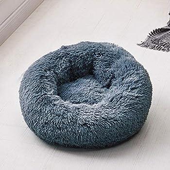 Maritown Lit de Chien Lit de Chat De Moelleux Auto réchauffement lit pour bébé Rond en Forme de Beignet Anti-Slip arrière Coussin d'oreiller intérieur pour Petits Animaux de Compagnie Animaux