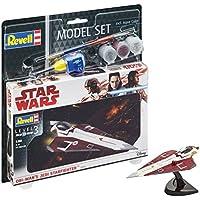 Revell–Star Wars–Model Set Jedi Starfighter, en Kit Modelo con Base Accesorios, fácil Pegar y para pintarlas, Escala 1:80  (63614)