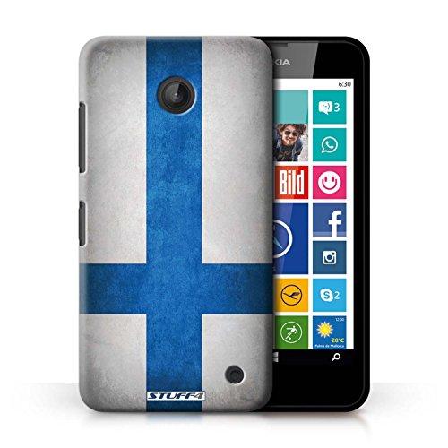 Coque en plastique pour Nokia Lumia 635 Collection Drapeau - Mecico/Mecican Finlande/finlandais