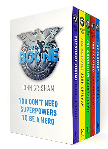 John Grisham Theodore Boone Series Collection 5 Books Box Set (Theodore Boone, The Abduction, The Accused, The Activist, The Fugitive)