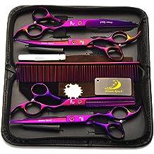 "4Pcs Set Pet Grooming 7.0 ""Profi Salon Friseur Schere Frisur Schere Werkzeug Kit Kamm für Haarschnitt Haar Styling"
