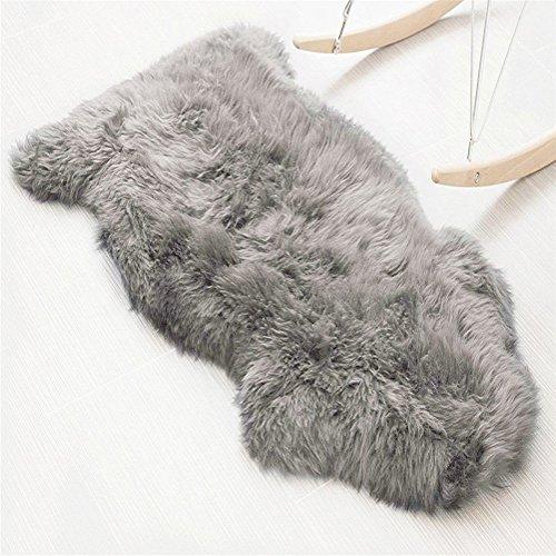 60 90 Cm Soft Fluffy Rugs Anti Skid Shaggy Area Rug Dining: Faux Lambskin Sheepskin Rug (60 X 90 Cm), Lambskin