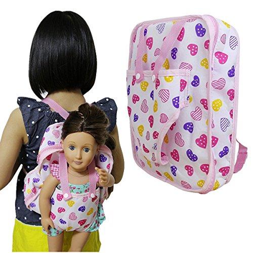 ZITA ELEMENT Muñeca de Moda Mochila para Niños para18 Pulgadas Americana Niñas Muñeca y Otra Muñeca de 45-46cm