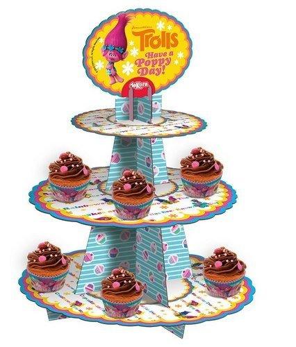 Trolls-338002-soporte-para-cupcakes-cartn-36-x-2-x-41-cm-multicolor