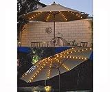 Fineway Garten-Sonnenschirmlichterkette, 72LED-Lichter, 8 solarbetriebene, verstrebteLichterketten