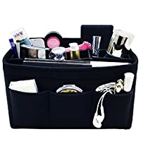 HyFanStr Women's Handbag Organiser Insert Tidy Travel Bag Storage Pockets, 12 Pockets-L