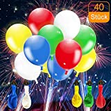 CalMyotis LED luftballoon, LED Balloons for Birthdays, Weddings, Graduation Parties, can be Filled with Helium - 40 Stück