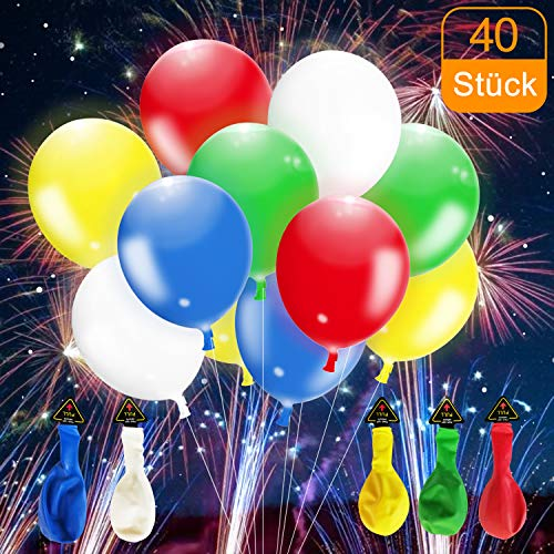 lloon, LED Balloons for Birthdays, Weddings, Graduation Parties, can be Filled with Helium - 40 Stück ()