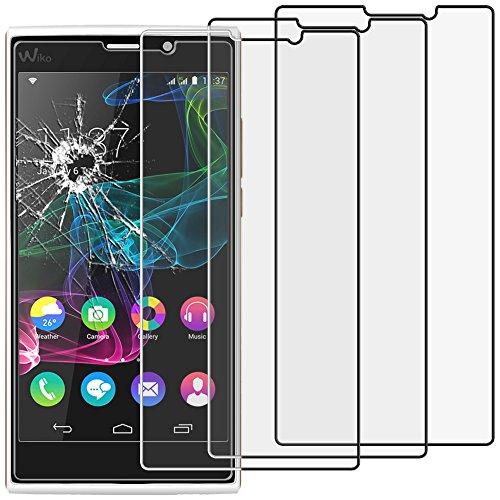 ebestStar - Wiko Ridge Fab 4G Panzerglas x3 Schutzfolie Glas, Schutzglas Bildschirmschutz, Bildschirmschutzfolie 9H gehärtes Glas [Phone: 156 x 78.2 x 8.6mm, 5.5'']