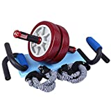 Sports Equipment Zwei-Rad-Lager Kraftrolle, Große Rad-Bauch-Gerät, Push-up-Rad, Heim-Bauch-Muskel-Rad, Fitnessgeräte Fitness-Rad (Farbe : Red-3)